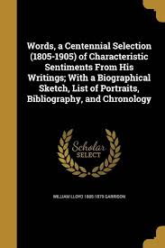 Chronology Words Words A Centennial Selection 1805 1905 Of Characteristic
