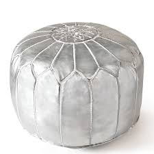 Black And White Pouf Leather Moroccan Pouf Modern Holding Category For Inventory