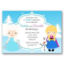 Frozen Birthday Invitations Frozen Birthday Invitation Elsa Anna Olaf Inspired
