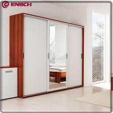 Modern style 3 door wooden home almirah designs in bedroom wall wardrobe