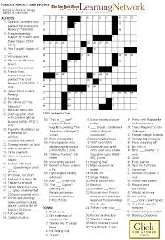 crossword puzzle famous artists and works