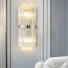 Crystal Wall Lights 2019 Chrome Clear Crystal Wall Lamps Bedroom Bedside Hotel Hallway Aisle Light Fixtures Luxury Wall Lights For Home From Jess234 120 61 Dhgate Com