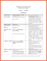 Examples Of Travel Itinerary 0 Istudyathes