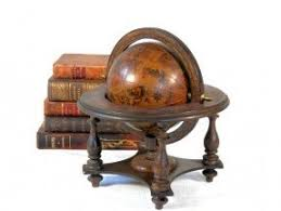 world globe on stand. Italian Old World Globe With Stand Signs On