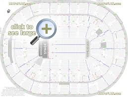detailed seat row numbers end stage concert sections floor plan map arena plaza club mezzanine level
