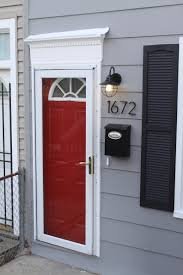 red door grey house. Gray House Red Front Door With And Shutters Image Gallery - Hcpr Grey W