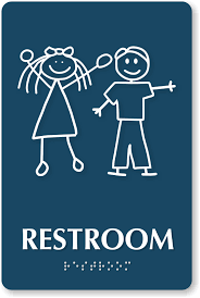 Top quality unisex restroom signs that stand out Title 40 compliant Classy Unisex Bathroom Signs
