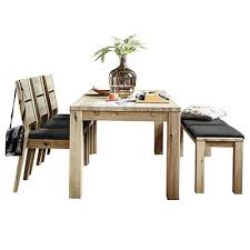 savannah dining table with 3 dining chairs and a bench with seat pads wild oak tables dining room