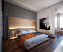Master Bedroom Feature Wall Grey And Stone Bedroom Central Striped Feature Wall Pops Of