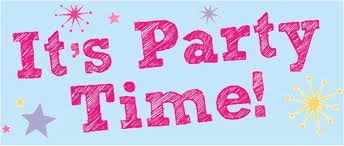 Image result for blue party time clipart