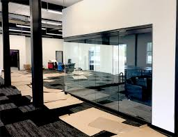 gl conference room with architectural swing doors