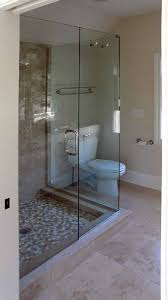 frameless shower enclosure level inline and return