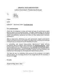 Letter Employment Termination Letters