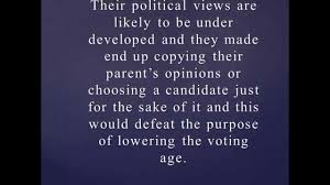 should the voting age be lowered to years old