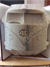 Book Folding Patterns Magnificent Personalised Camper Van Combi Cut And Fold Book Folding Pattern