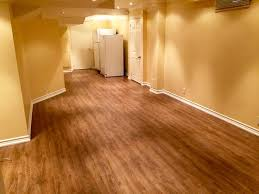 laminate flooring for basement. Basement Light Laminate Floor Installation - Same Room Flooring For M