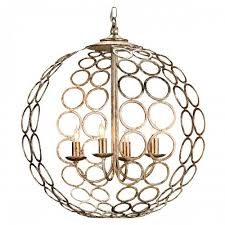 aged silver orb chandelier