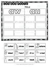 ~1 aw poster ~1 au poster ~1 word sort this 22 page word work packet has everything you need for teaching and reinforcing the au/aw sound! Diphthongs Aw And Au Sorts Cut And Paste Worksheets By Busy Bee Studio