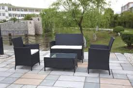 black rattan outdoor garden furniture table and chair set black garden furniture