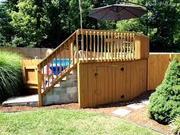 appealing how to build an above ground pool deck