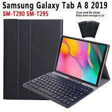 Klavye kılıf Samsung Galaxy Tab A 8 2019 8.0 SM T290 SM T295 T290 T295  kılıf Samsung Tab için bir 8 2019 klavye kapağı + kalem|Tablets & e-Books  Case