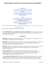 Web Design Confidentiality Agreement Sample Non Disclosure Agreement Template Everynda