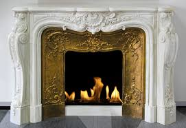 up close image of a white electric fireplace