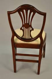 Small Vintage Size Shield Back Dining Room Chairs Solid Mahogany