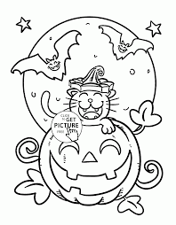 Small Picture bats flying at night scary bat coloring page funny halloween cat