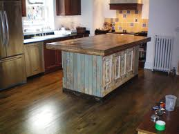 wood top kitchen island best of birch wood cool mint lasalle door intended for elegant reclaimed