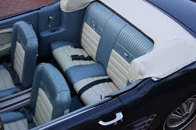 1965 mustang convertible full set blue white pony upholstery