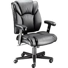 office leather chair. Staples® Luxura Faux Leather Task Chair With Arms, Black Office