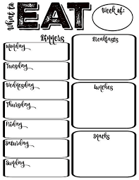 Free Weekly Meal Planner With Grocery List Pantry Makeover Free Printable Weekly Meal Planner And Shopping