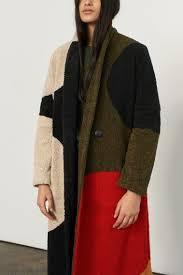 Designing Women The Fur Flies Mara Hoffman Letterman Coat Embellished Penny Dot Poplin
