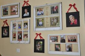 Old Window Frame Decor 170 Family Photo Wall Gallery Ideas Window Craft And Walls