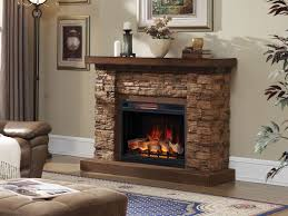 grand canyon 28 in stacked stone infrared electric fireplace cabinet mantel package 28wm9185 s250