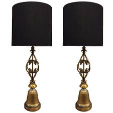 organic lighting fixtures. Pair Of Arturo Pani Style Wrought Iron Gold Leaf Lamps Organic Lighting Fixtures R