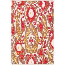 elaine hudson poppy red 8 ft x 11 ft indoor area rug