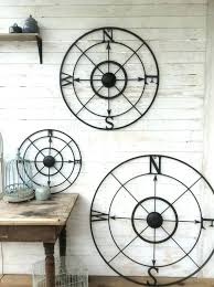 marvelous metal circle wall decor metal circle wall decor medium nautical wall decor metal compass nautical