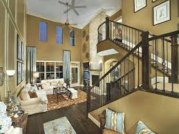 tray ceiling ideas living room brown the corner color larson small budget paint above with sofa