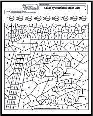 Small Picture Color By Number Coloring Pages Color by letter color by number