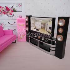 hi fi 16 tv home theater cabinet set combo for blythe for barbie dolls house dollhouse furniture barbie furniture sets promotion barbie doll house furniture sets