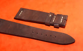 genuine pilot riveted brown leather vintage aviator watch strap 21mm breguet type 3800