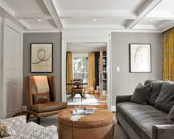 gray walls brown furniture. Example Of A Trendy Enclosed Living Room Design In DC Metro With Gray Walls Brown Furniture S
