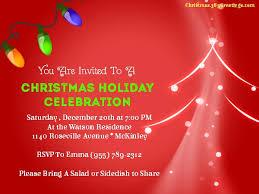 Christmas Invite Cards Under Fontanacountryinn Com