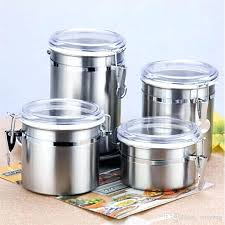 airtight containers for flour and sugar stainless steel airtight sealed canister coffee flour sugar container holder cans pots storage bottles jar