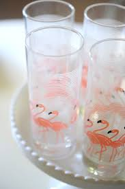 vintage flamingo glasses