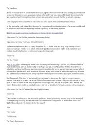 Reference Letter From Landlord Landlord Tenant Reference Letter Free ...