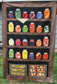 Theme and Pictorial Quilts Photo Gallery | Jar, Patterns and Patchwork & Canning Jar Quilt - love it! Adamdwight.com