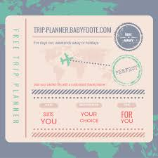 Free Trip Itinerary Planner Free Trip Planner For Days Out Holidays Or Weekends Away